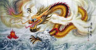 chinese dragon painting 69cm x 138cm 4319011 x