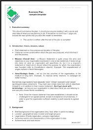Business Brief Example Example Simple Business Plan Business Proposal Example Model