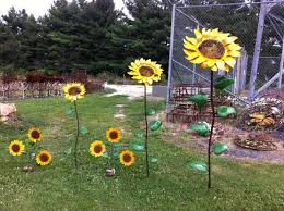 67 recycled metal giant sunflower