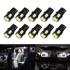 OXILAM <b>10Pcs T10 W5W LED</b> Bulb 194 168 Car Interior Dome ...