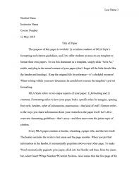 020 Research Paper Mla Format Template Compliant Snapshot Word Style