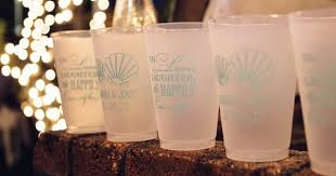 personalized drinking glasses. Interesting Drinking Personalized Plastic Stadium Wedding Cups U003e To Drinking Glasses A