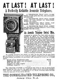 telephone acoustic telephone ad the consolidated telephone co jersey city nj 1886