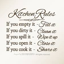 kitchen rules wall art decal dining