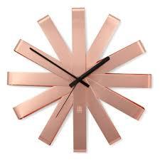 <b>Часы настенные</b> Umbra <b>RIBBON медь</b> — купить в интернет ...