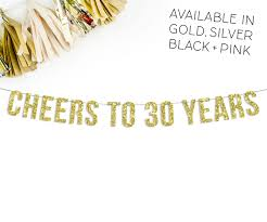 30th Anniversary Decorations 30th Anniversary Etsy