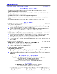 Example Of College Resume Template