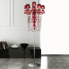 modern red crystal chandelier floor lamp juliettes interiors intended for red crystal floor lamp