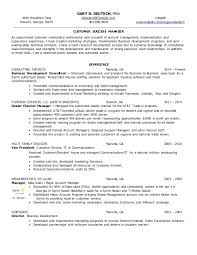 customer success manager resume customer success manager resume example