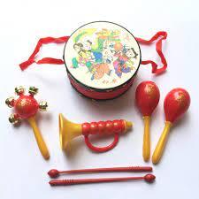 Bộ trống xúc xắc kèn 4 món chơi trung thu cho bé | Trò chơi dân gian