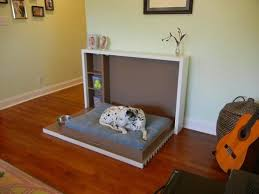 modern pet furniture. large wooden box with cushion creative pet beds modern furniture