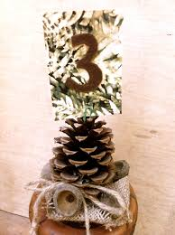 Pine Cone Wedding Table Decorations Wedding Card Table Holders Pine Cones On Luulla