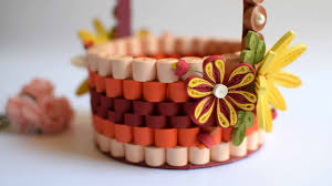 Paper Quilling Flower Baskets Quilled Basket Part 2 Decorating Paper Basket 3d Quilling Flowers