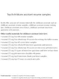 Resume For Child Care Resume For Childcare Childcare Resume Child