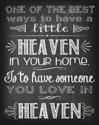 Heaven Quotes For Loved Ones Enchanting Sypmathy Gift Heaven Quote Printable Chalkboard Print Loss