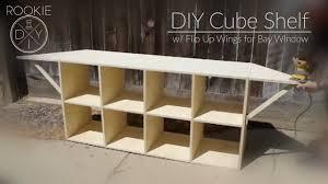 How to build cube shelves Desk Diy Cube Shelf W Flip Up Wings Youtube Diy Cube Shelf W Flip Up Wings Youtube