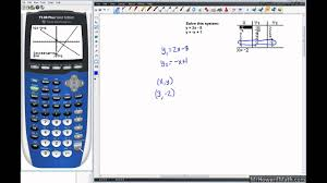 linear systems solving with graphing calculator graph and table methods