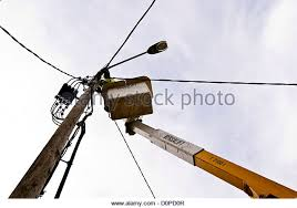 wiring wire street light stock photos wiring wire street light esb engineer repairing street lighting wiring on a versalift crane stock image