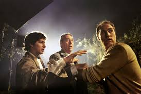 who really directed poltergeist page of poltergeist above steven spielberg gives direction to craig t nelson and james karen in the film s climax