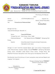 Contoh Surat Pembentukan Organisasi Contoh Surat
