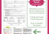 Photography Business Forms Templates New Wedding Photography And ...