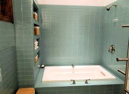 best way to cut glass tile bathroom with glass tiles and drop in tub ways to