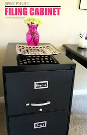 Another example is this filing cabinet. I spray painted the frame a high  gloss black and then used chalkboard paint on each drawer front.