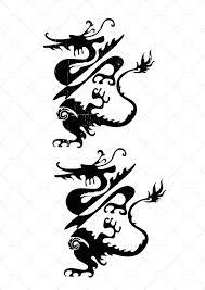 тату китайского дракона