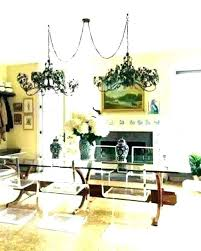 swag chandelier over dining table exquisite room chandeliers with plug in lamp style light
