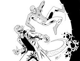 Small Picture Deadpool Vs Spider Man Coloring Pages PrintableVsPrintable