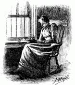 charlotte perkins gilman s the yellow wall paper writing women  front page illustration for the original serialized version of the yellow from the new england