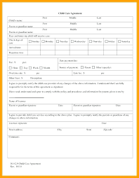 Daycare Contract Template Child Care Contract Template Childcare Contract Template