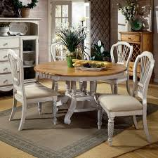 White Wood Kitchen Table Sets Wilshire Wood Round Oval Dining Table Chairs In Pine Antique
