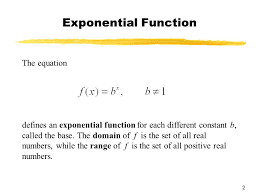 2 exponential function the equation