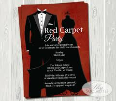 Black Tie Theme Black Tie Invitation Red Carpet Party Hollywood Party