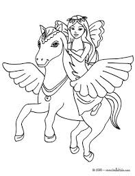 Small Picture Fairy and pegasus coloring pages Hellokidscom