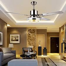 2018 with remote control ceiling fan light minimalist modern living room dining room super bright led stainless steel leaf from yaling168 480 7 dhgate