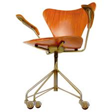 Jacobsen Series 7 Chair Rare Arne Jacobsen Series 7 Office Chair Model 3217 With Armrests