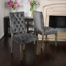saltillo velvet dining chair set of 2 by christopher knight home