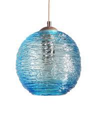 Spun Glass Globe Pendant Light in Aqua by Rebecca Zhukov (Art ...
