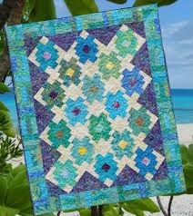Blue Lagoon Quilt Pattern LLD-043 (confident beginner, crib, throw ... & Blue Lagoon Quilt Pattern LLD-043 Adamdwight.com
