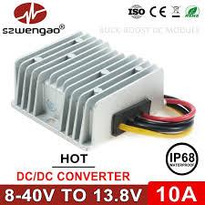 szwengao 8 40V to <b>13.8V 5A</b> 10A DC DC Converter <b>12V to 13.8V</b> ...