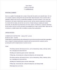 Cosmetologist Resume Examples Resume And Cover Letter Resume And