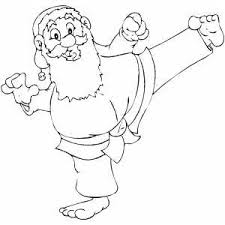 Reat pictures designed with adults in mind. Santa Karate Master Coloring Page