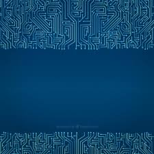 Circuit Background In Blue Tones Vector Free Download