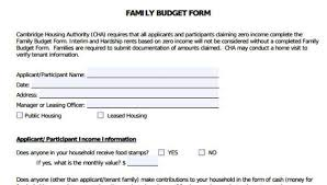 Sample Of Family Budget 6 Family Budget Forms Free Sample Example Format Download