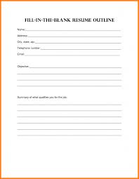 6 Blank Resume Doc Cashier Resumes