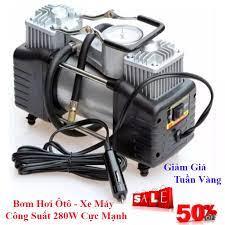 Máy bơm hơi xe máy 220V,can adapter, bơm xe máy xe đạp bơm điện, bơm