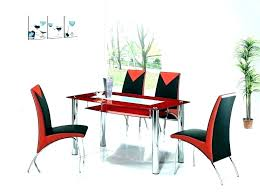 red glass sets glass wood dining table glass wood dining table sets red table set red