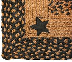 braided rug barn star black country decor primitive rug primitive country area rugs